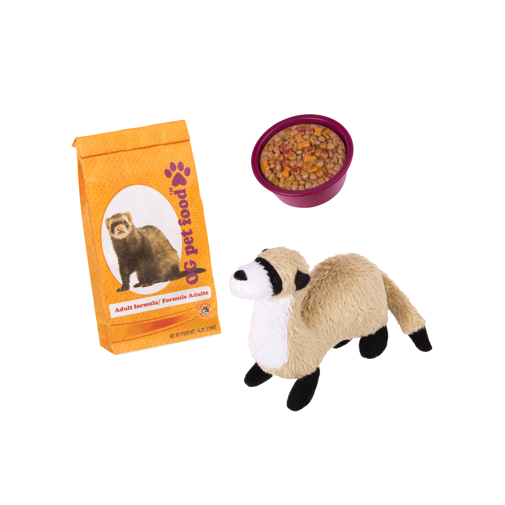 Pet Ferret Set for 18-inch Dolls