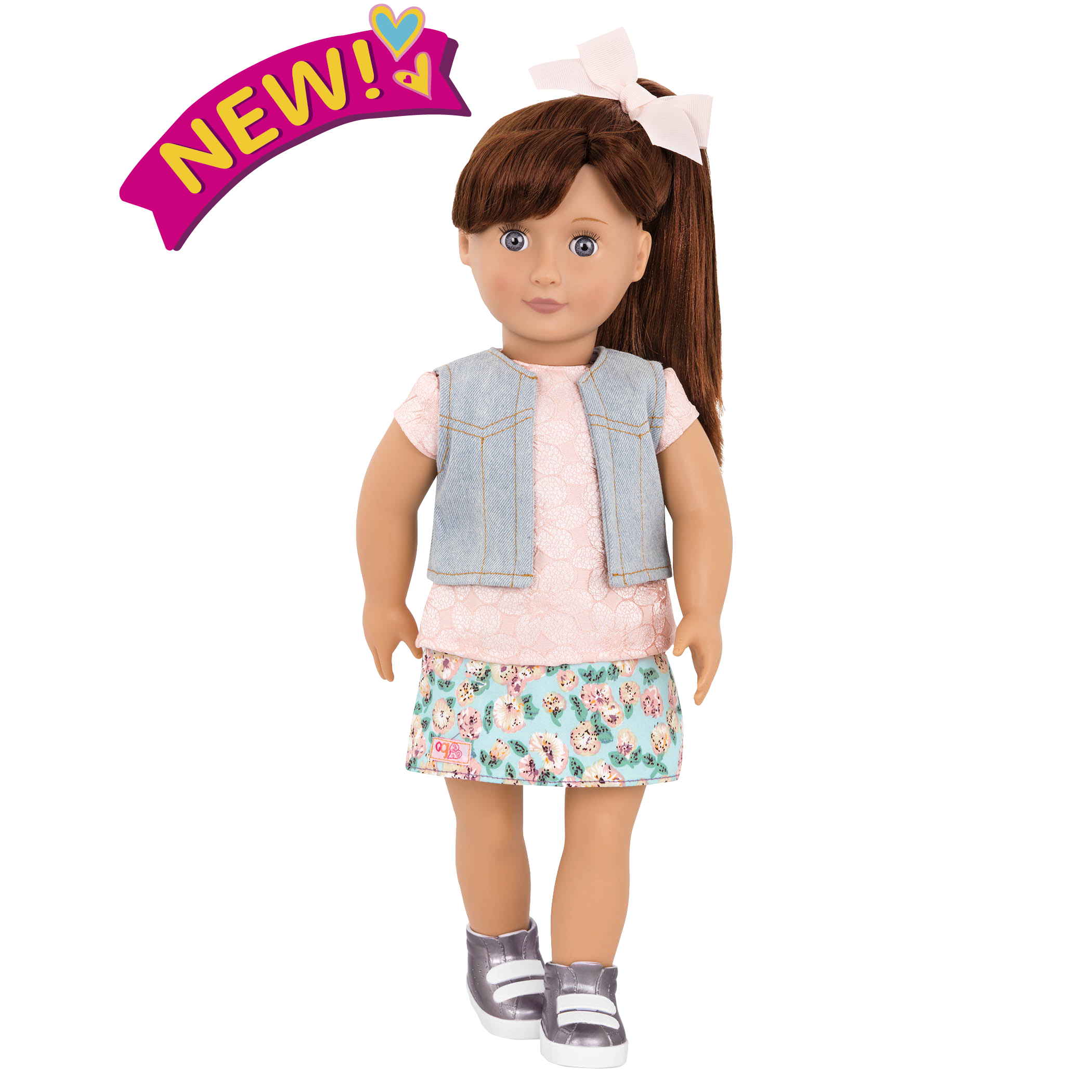 Myriam 18-inch Doll with Floral Skirt