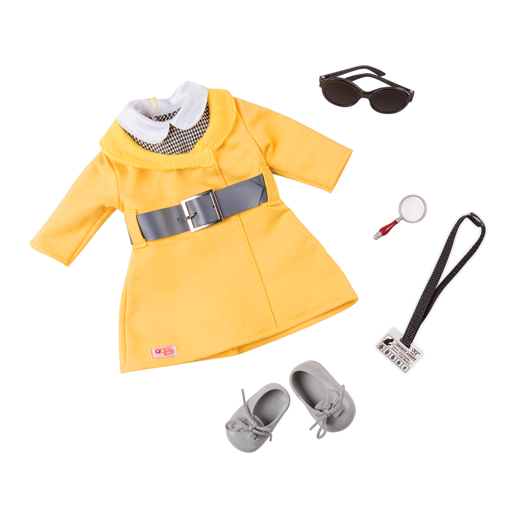 Secret Agent Style Retro Detective Outfit for 18-inch Dolls