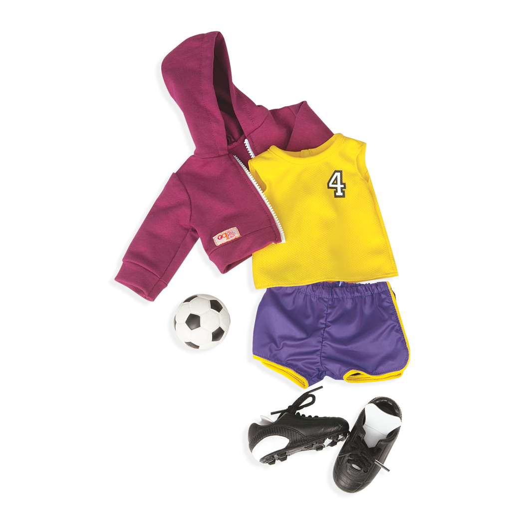 Team Player soccer outfit for 18-inch Dolls