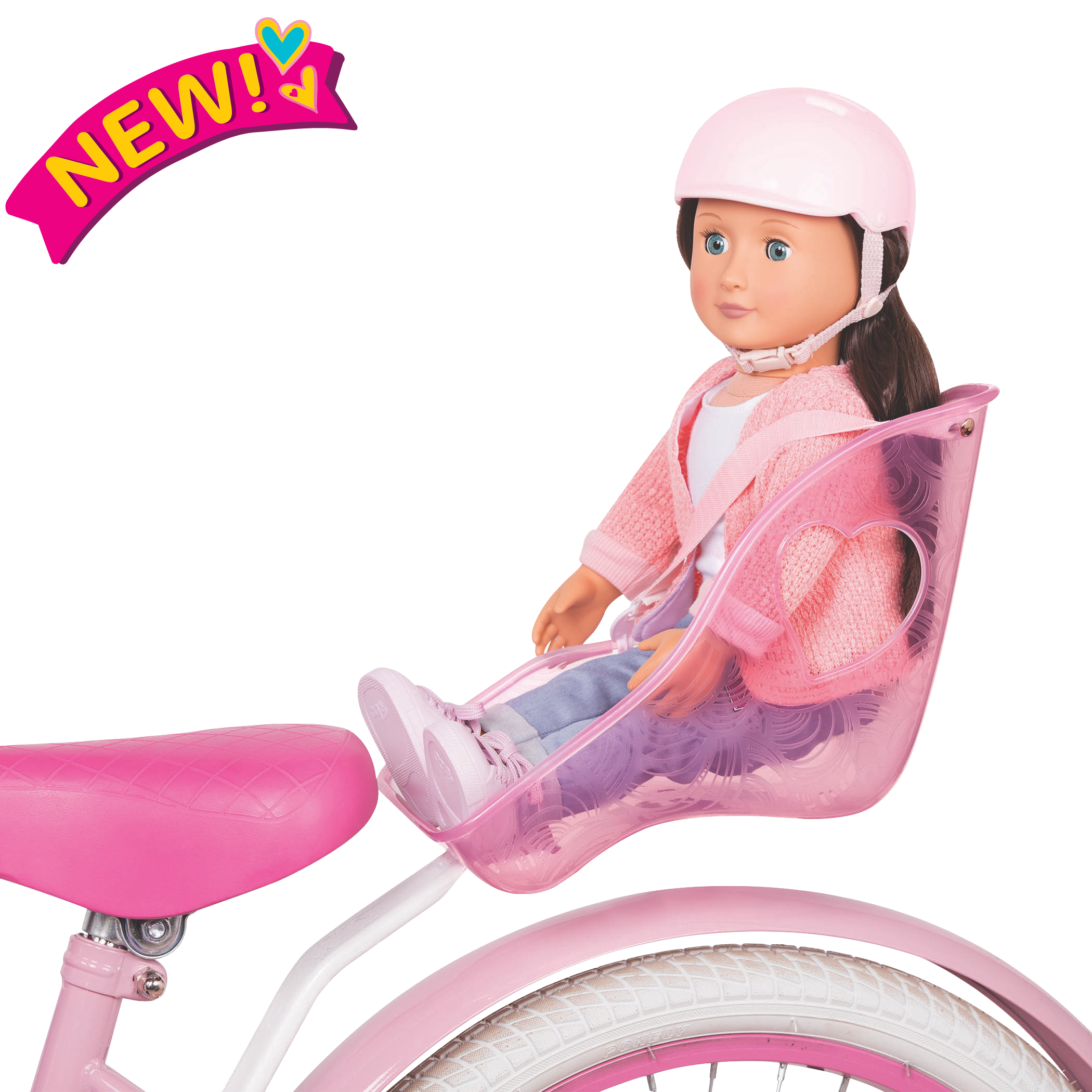Carry Me Bicycle Seat for 18-inch Dolls