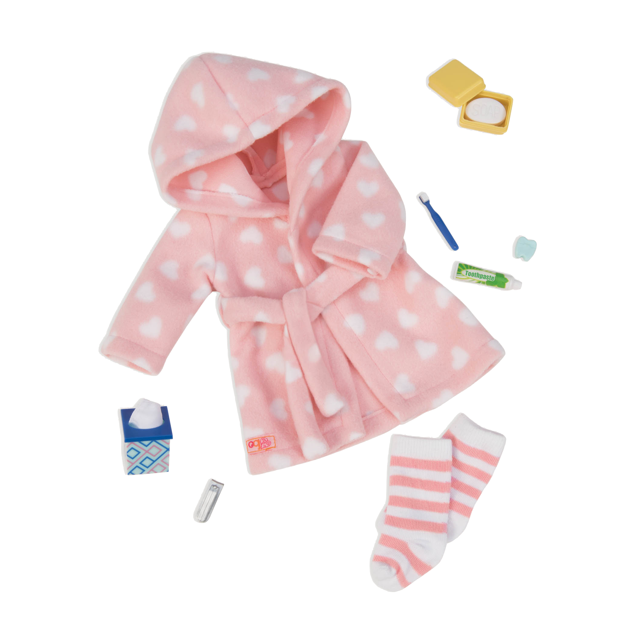 Good Night, Sleep Tight Robe Outfit for 18-inch Dolls