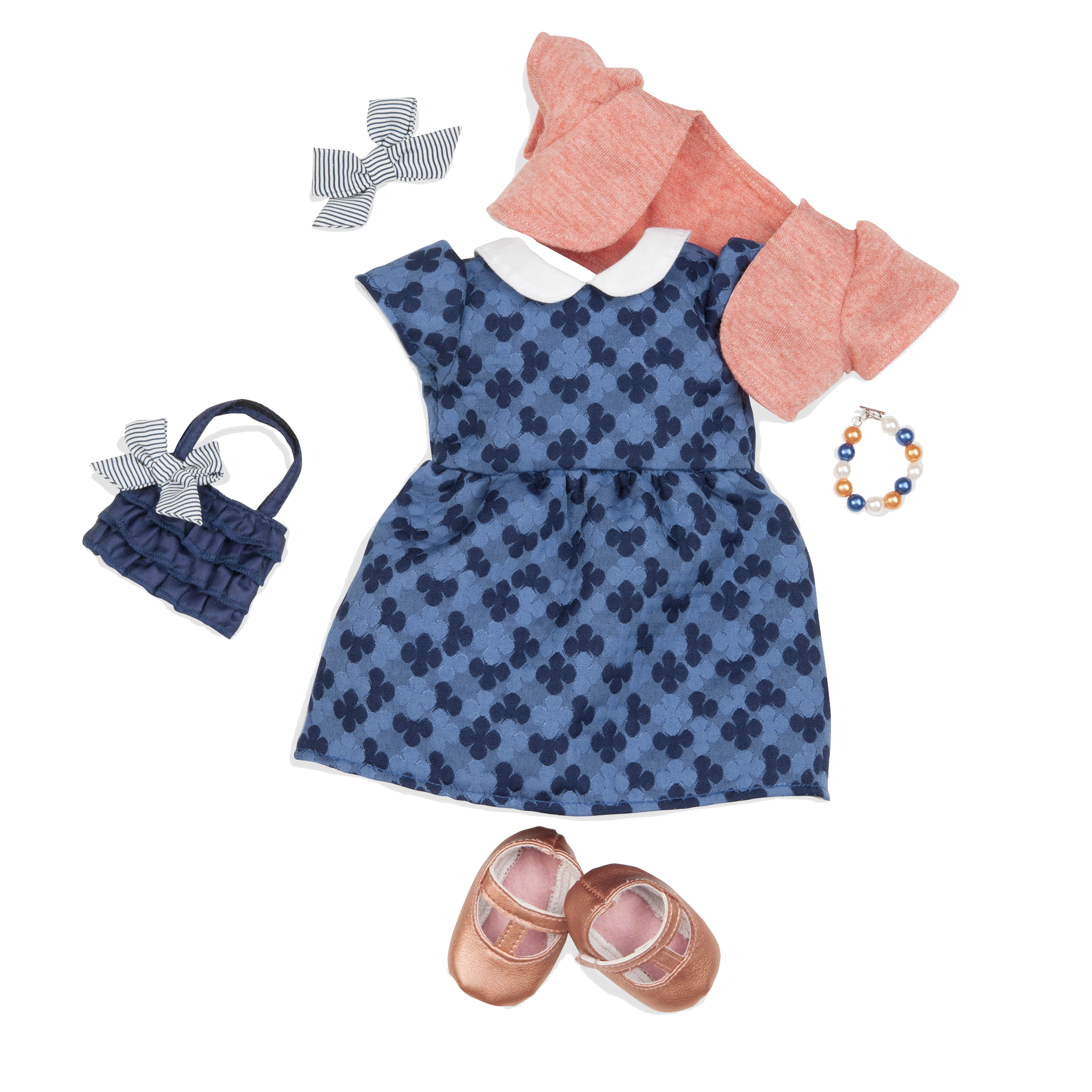 Out of the Blue Dress Outfit for 18-inch Dolls