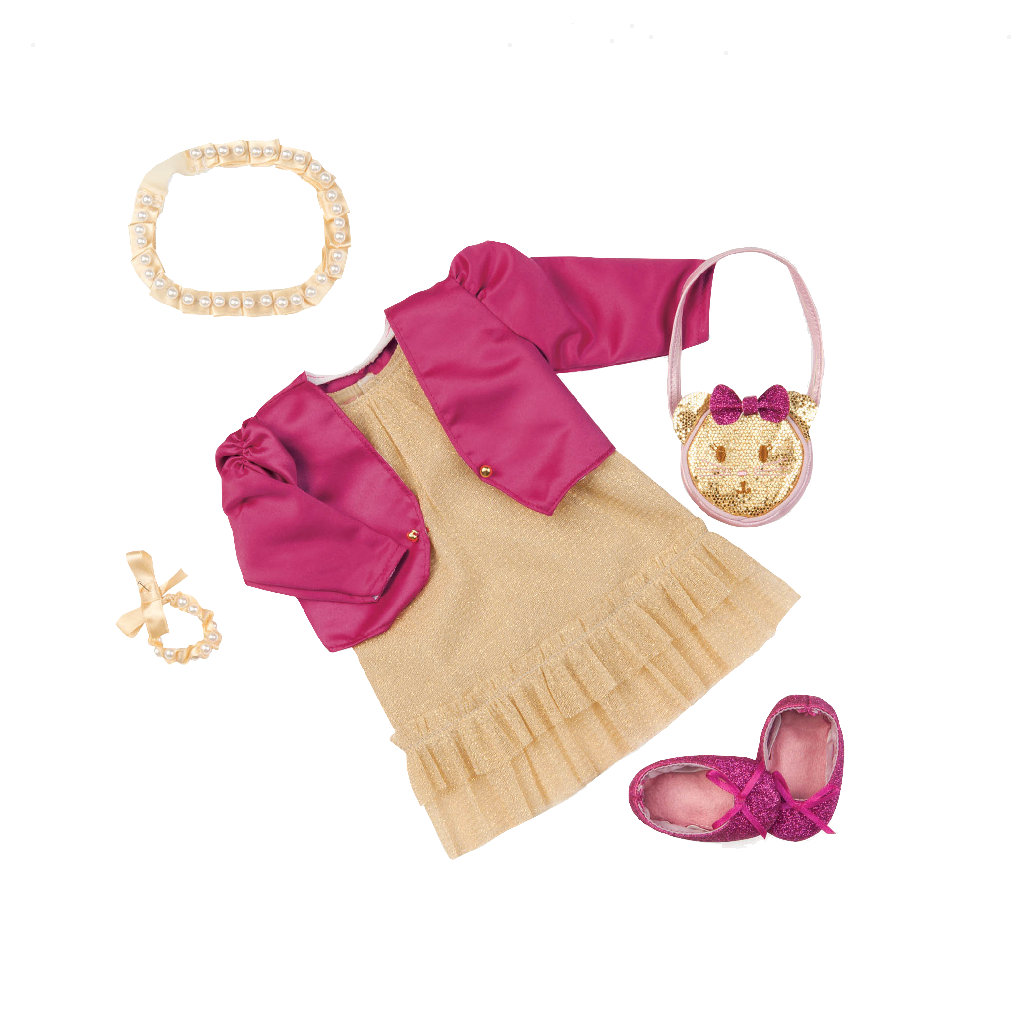 Goldie Luxe Deluxe Dress Outfit for 18-inch Dolls