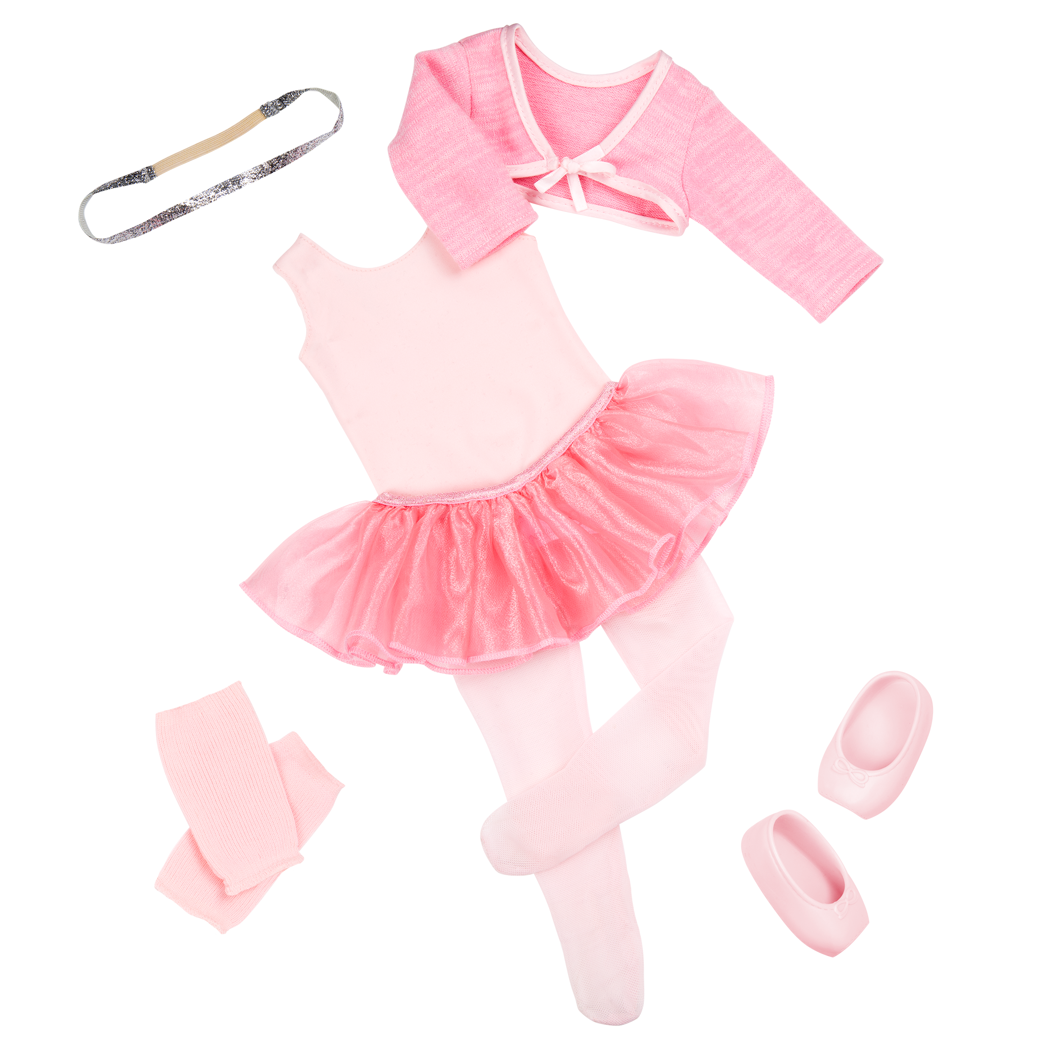 Detail of pink ballet clothes