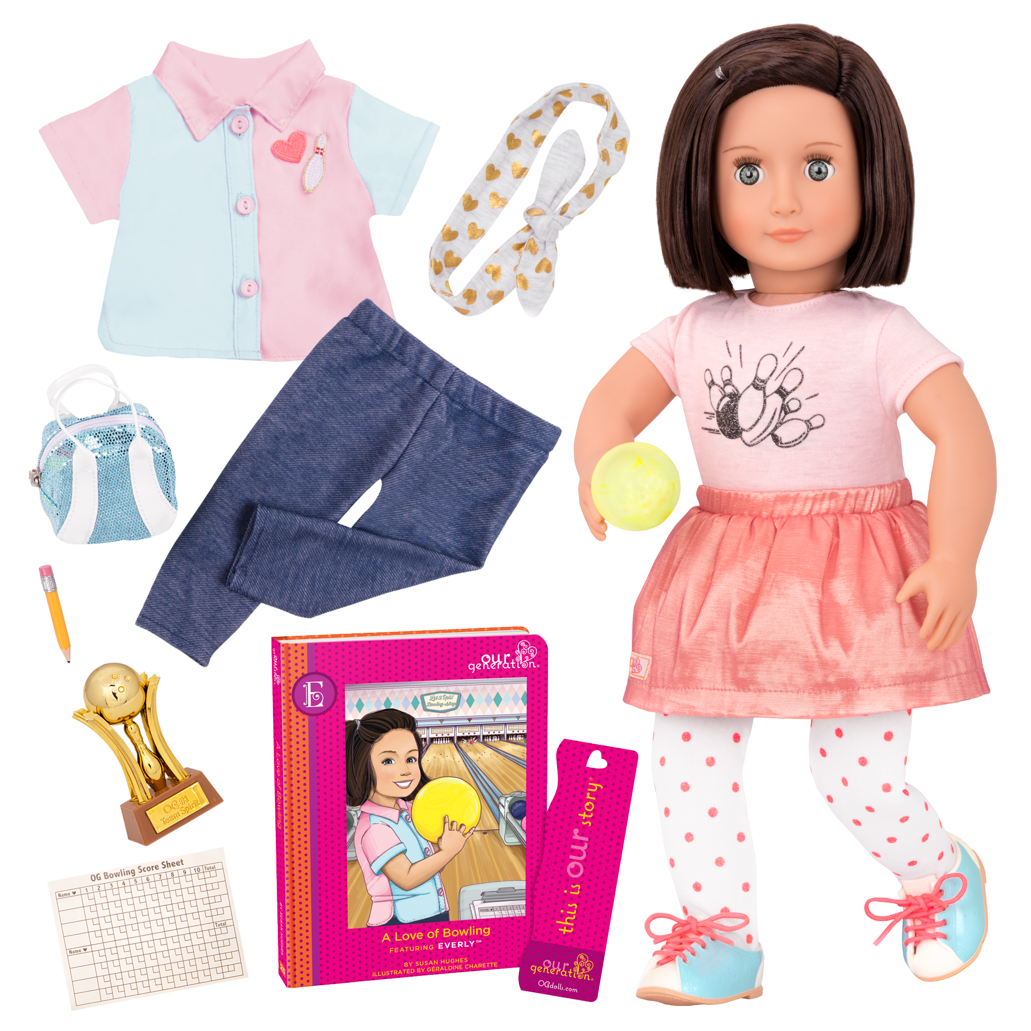 Everly Deluxe 18-inch Bowling Doll