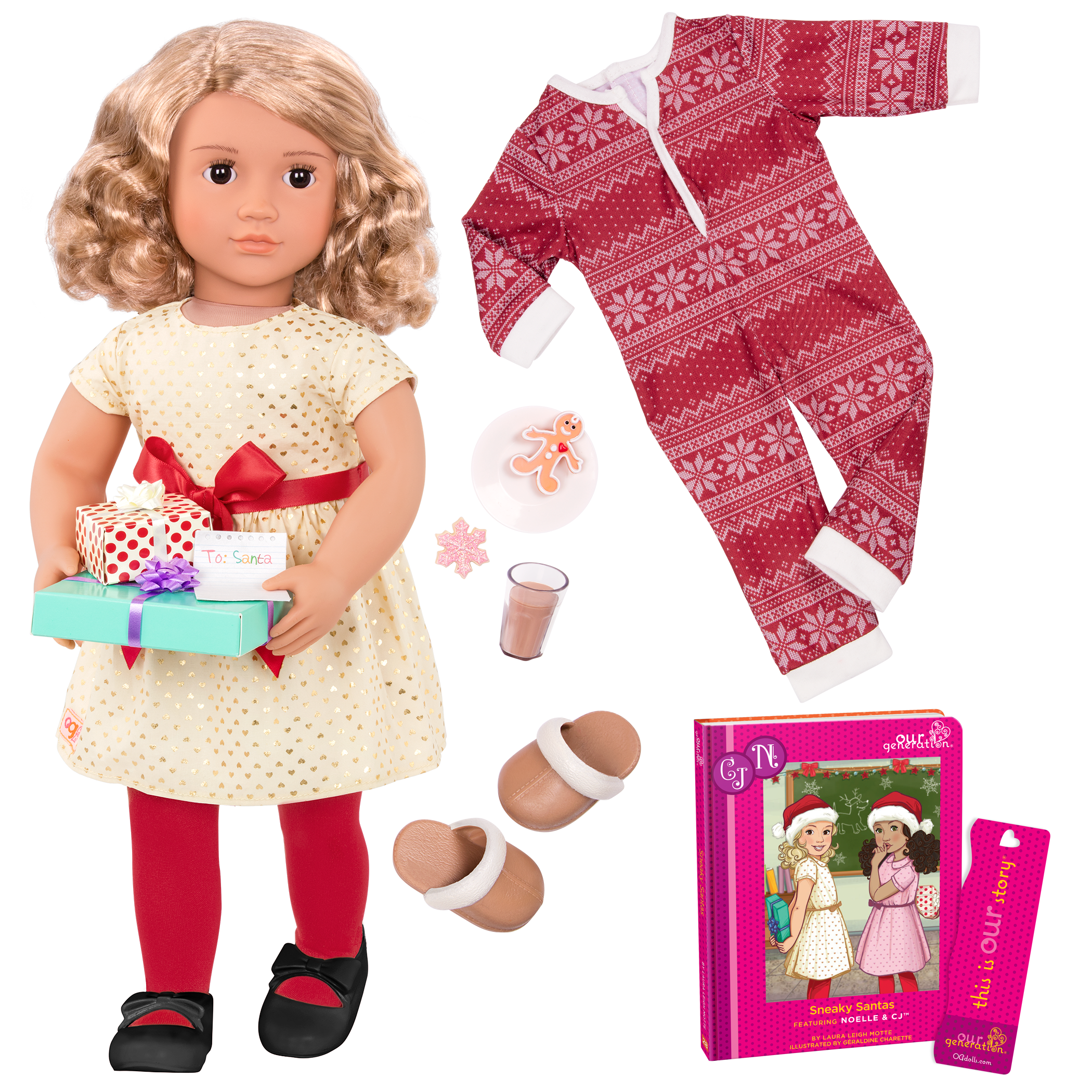 Noelle Deluxe 18-inch Christmas Doll with Storybook