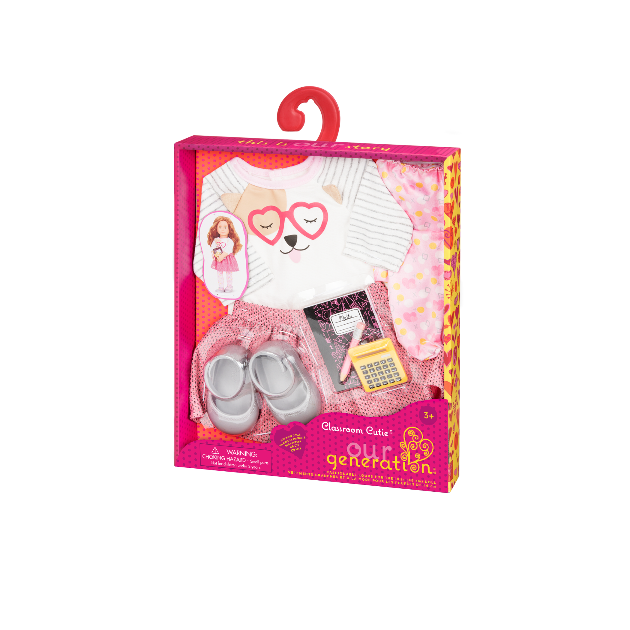 Classroom Cutie - 18-inch Doll outfit in packaging