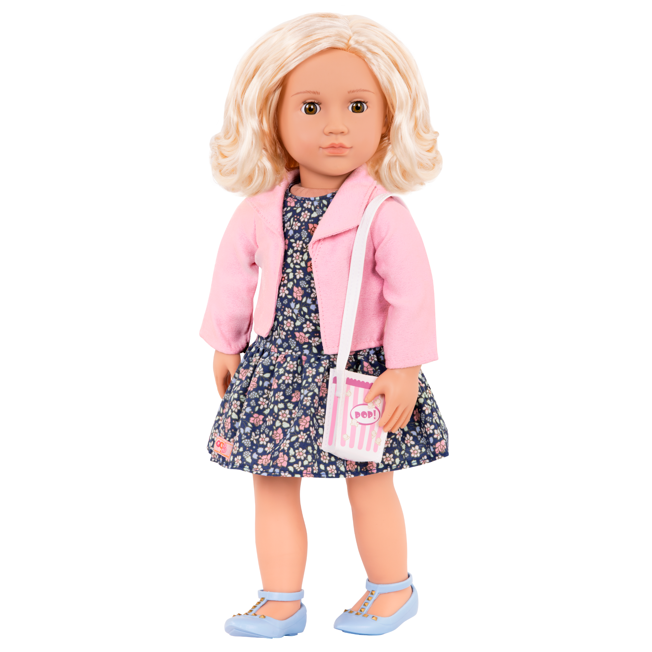 Popcorn Pizazz - 18-inch Doll Outfit with Ivory wearing jacket