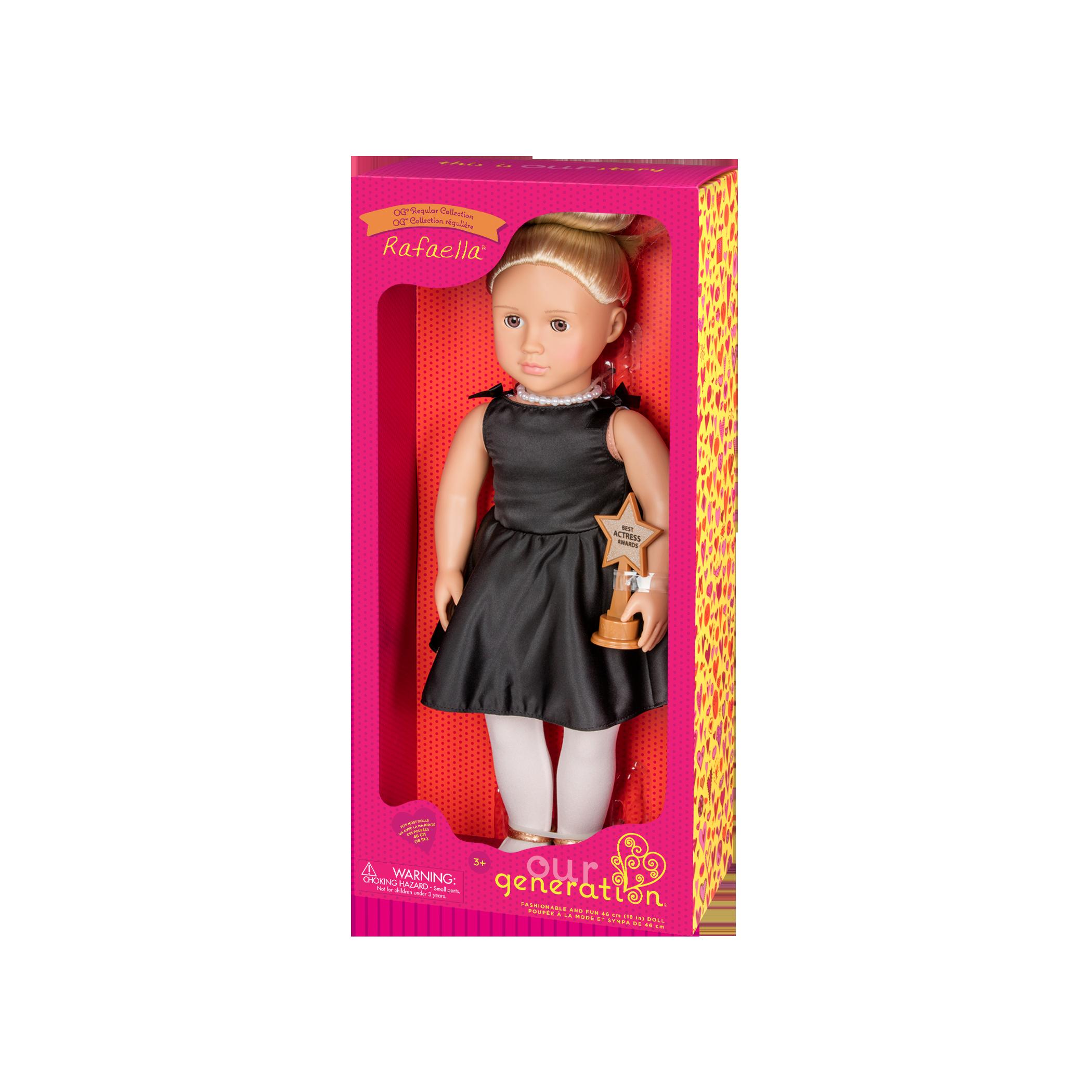 Rafaella Regular 18-inch Actress Doll in packaging