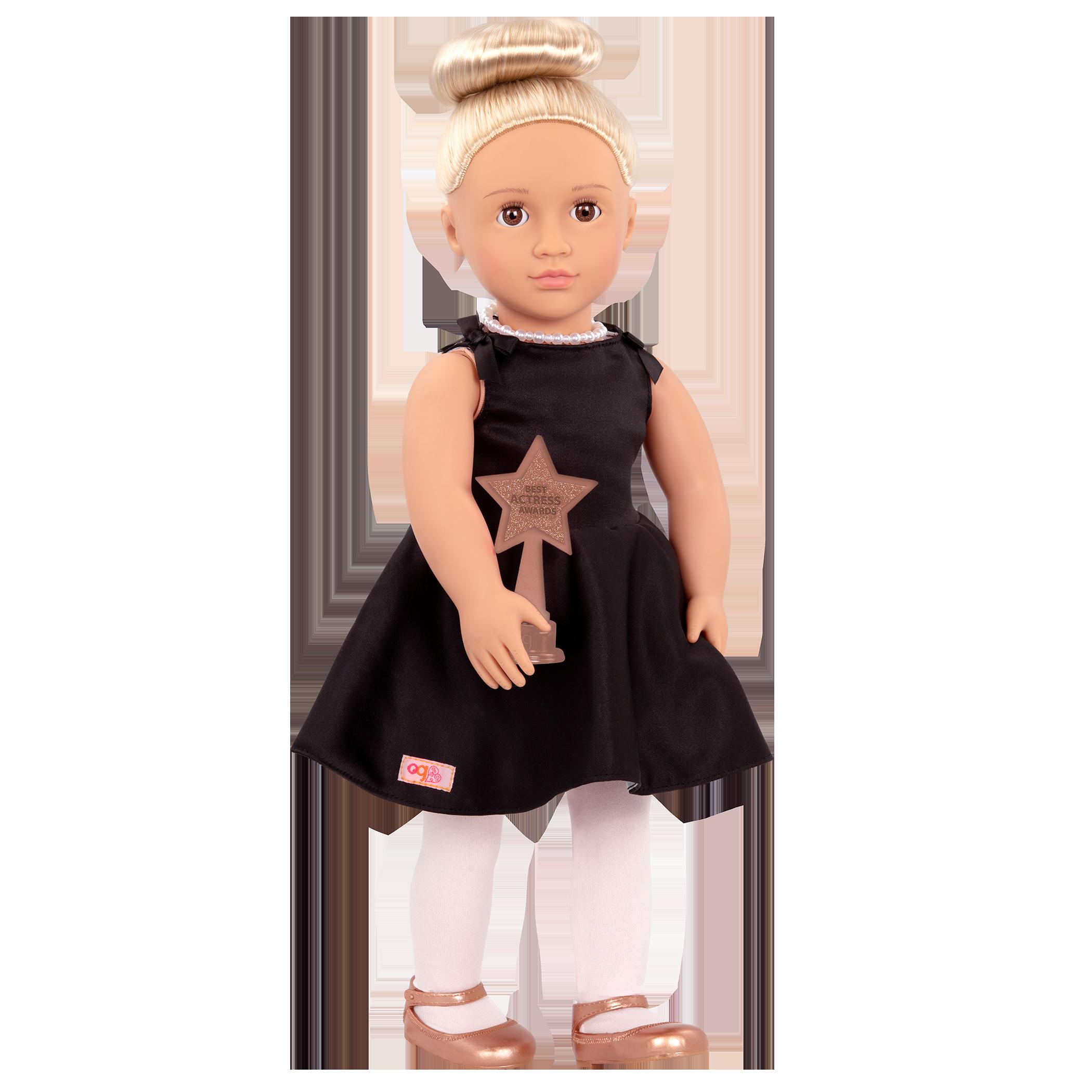 Rafaella Regular 18-inch Actress Doll holding award