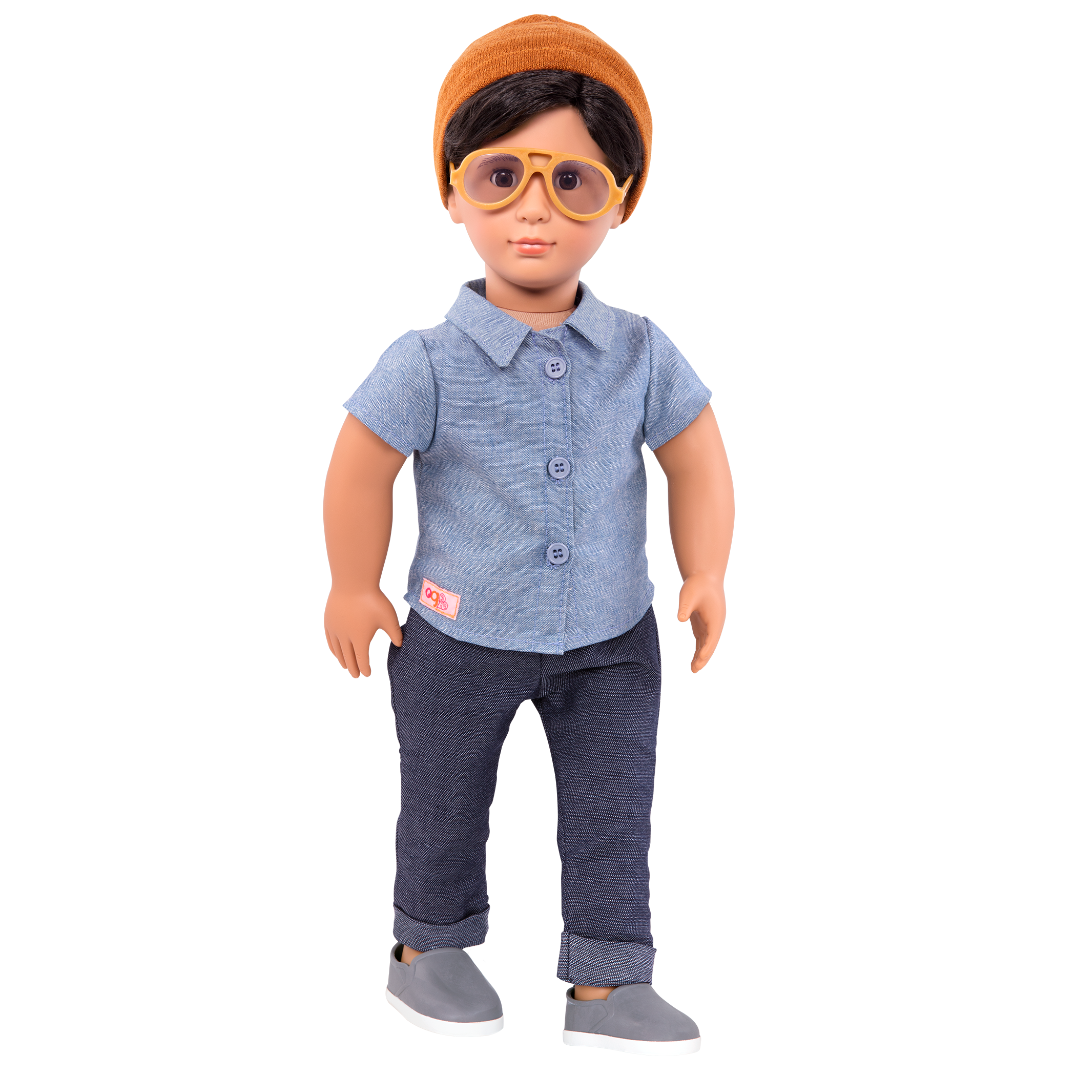 Franco Regular 18-inch Boy Doll wearing sunglass