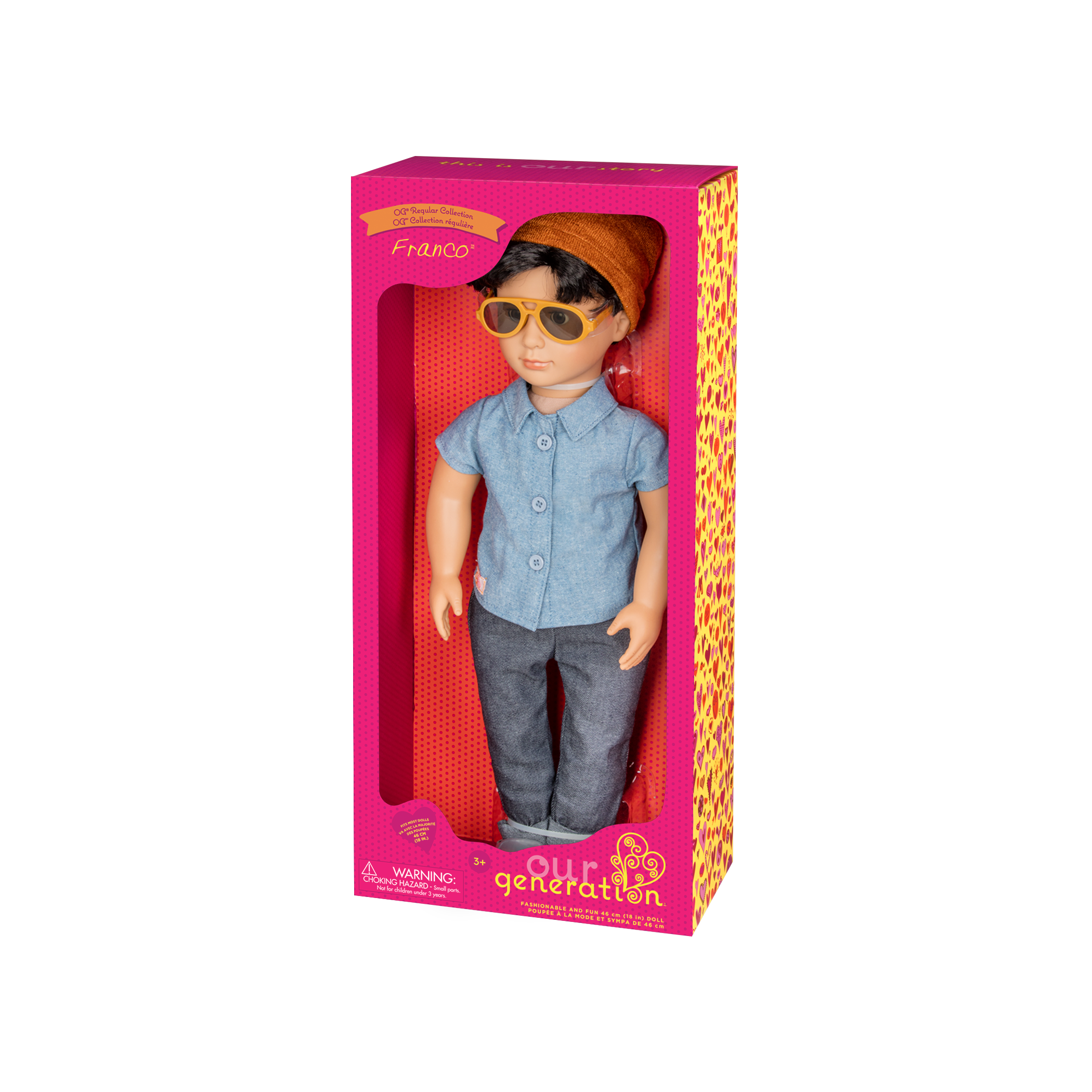Franco Regular 18-inch Boy Doll in packaging