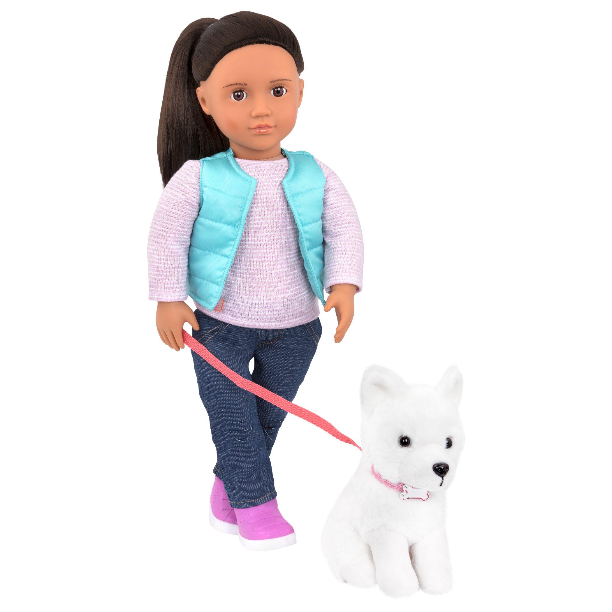 Cassie and Samoyed 18-inch Doll and Pet