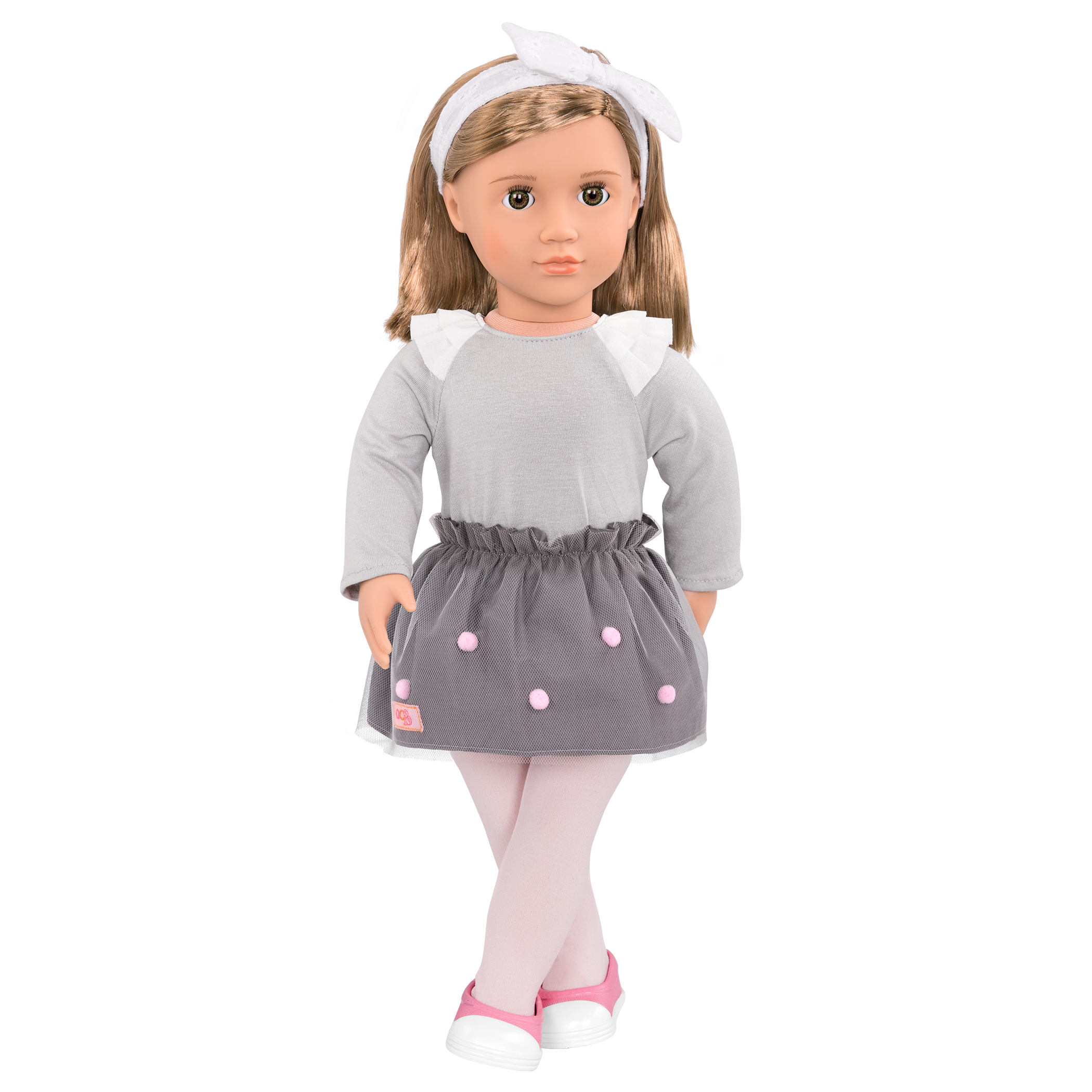 Bina 18-inch Doll with legs crossed