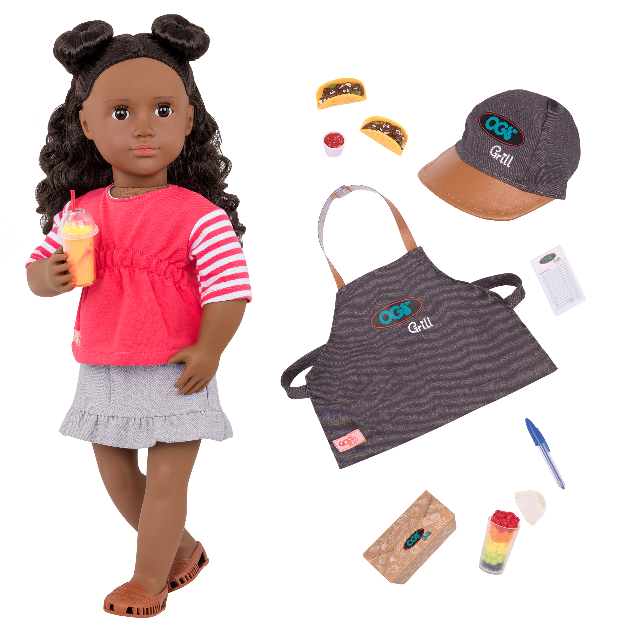 Macy Deluxe Food Truck Doll all components