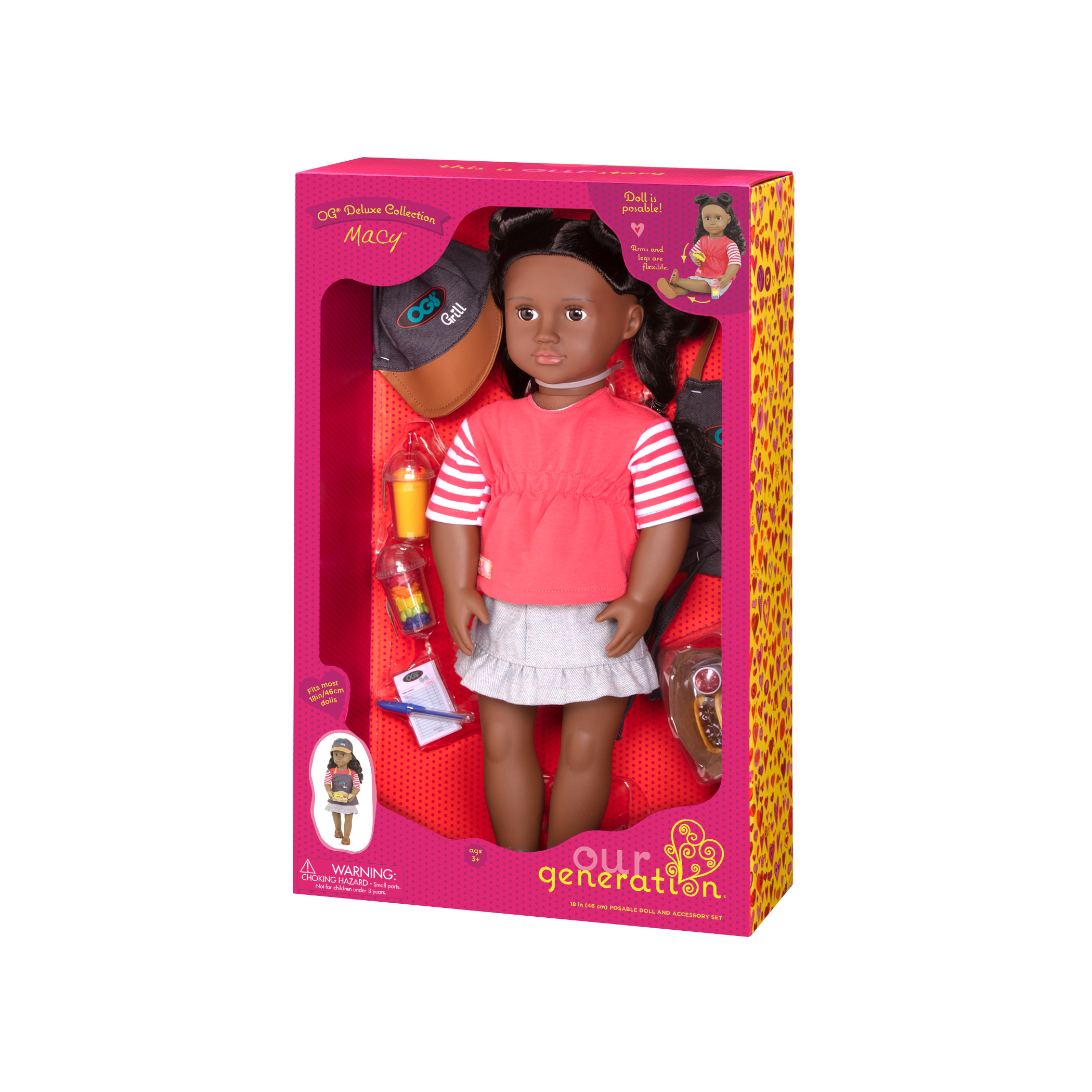 Macy Deluxe Food Truck Doll in packaging