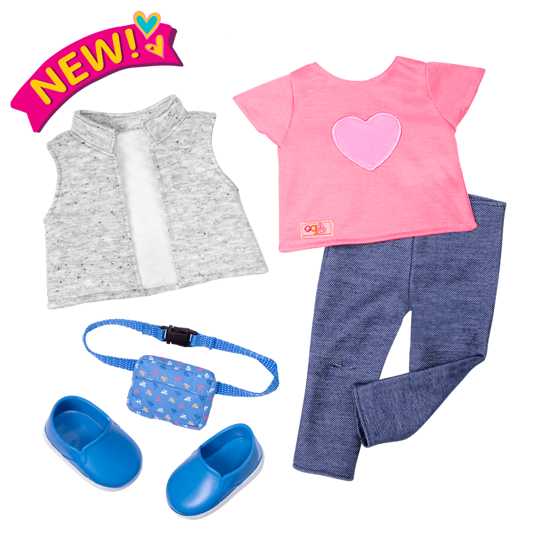 Trendy Traveler Outfit for 18-inch Dolls