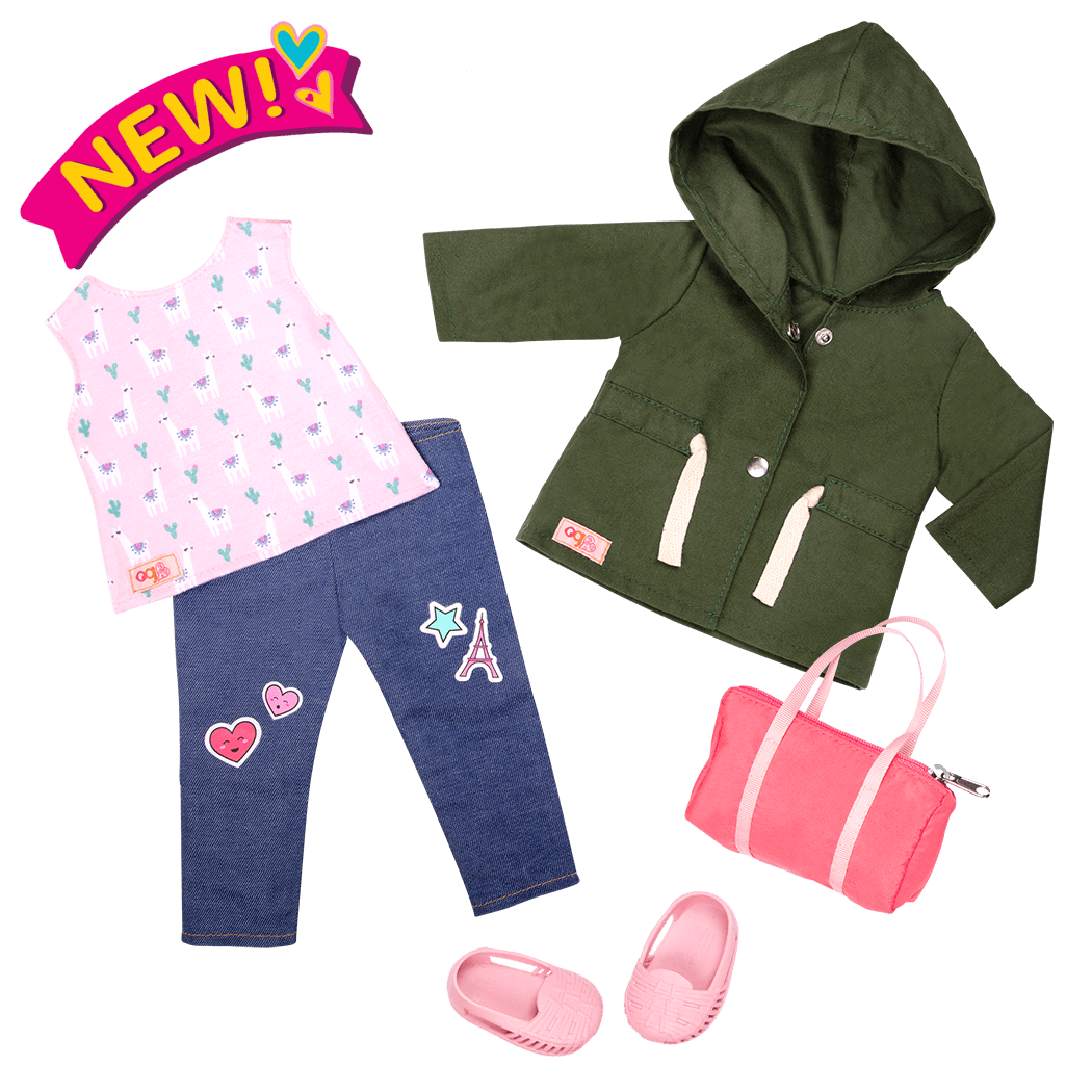 Alpaca Your Bags - 18-inch doll travel outfit