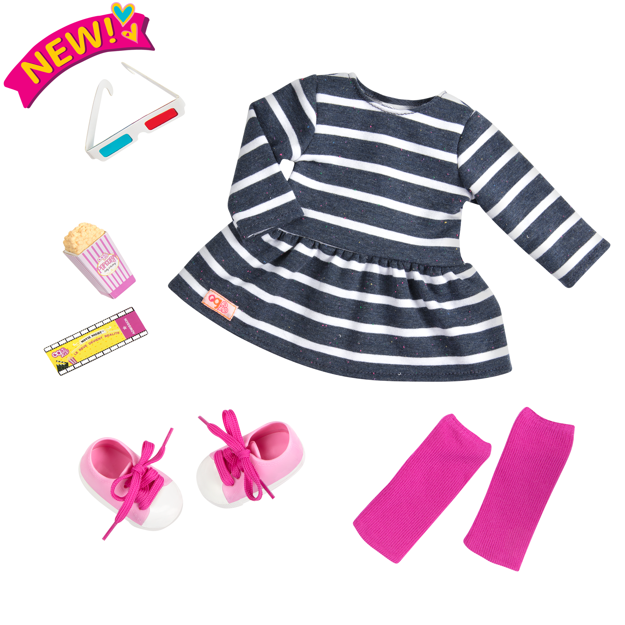 theater Threads - Movie Night Outfit for 18-inch Dolls