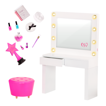 Glitz and Glamour Dressing Room Accessory for 18-inch Dolls