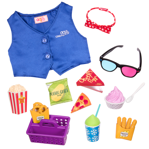 Cinema Snacks Movie Accessory for 18-inch Dolls