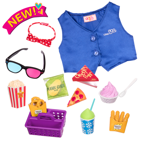 Cinema Snacks Movie Accessory for 18-inch Dolls