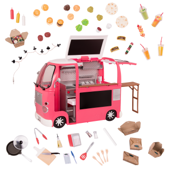 Grill to Go Food Truck Pink for 18-inch Dolls