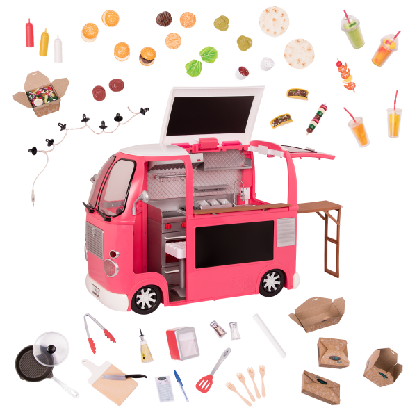 Grill To Go 18 Inch Doll Pink Food Truck Our Generation