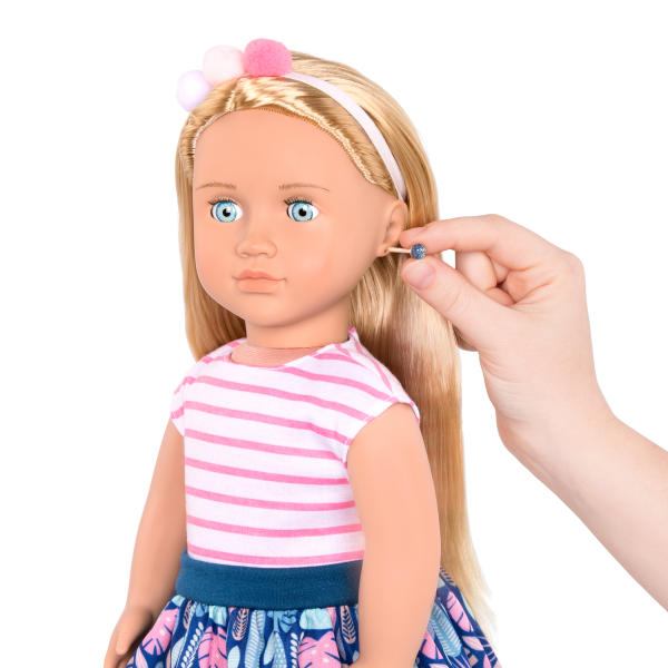 18-inch Jewelry Doll Alessia with Pierced Ears