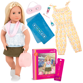 Deluxe 18-inch Train Travel Doll Joanie