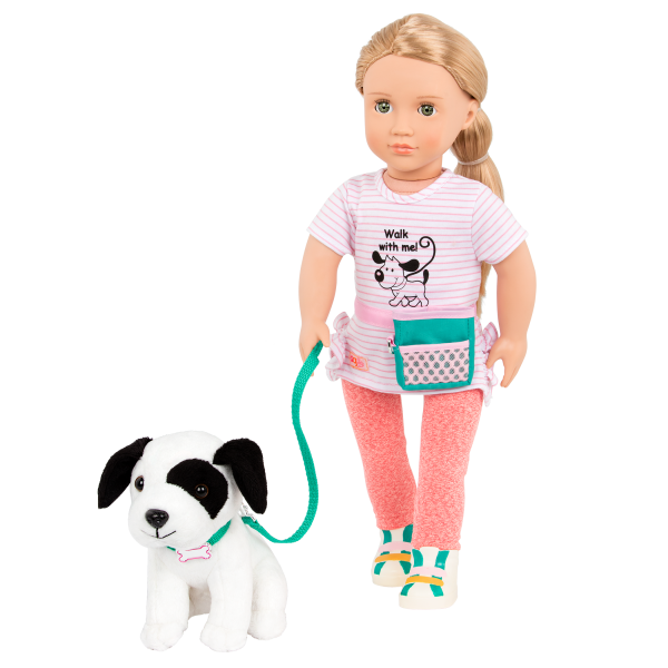 18-inch Dog Trainer Doll Hazel Sitting with Pet Pup