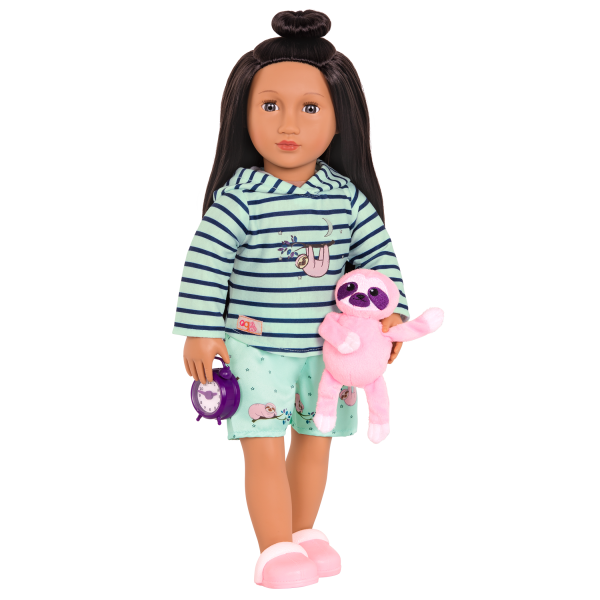 Deluxe Sleepy Sloth Outfit for 18-inch Dolls with Julieta