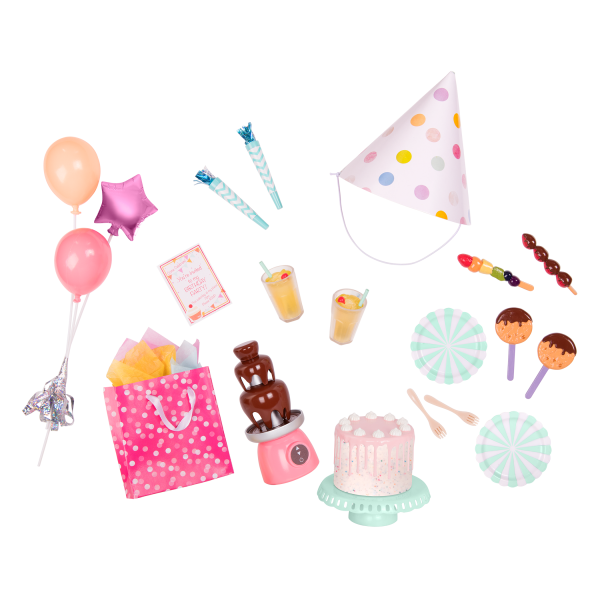 Sweet Celebration Birthday Party Set for 18-inch Dolls