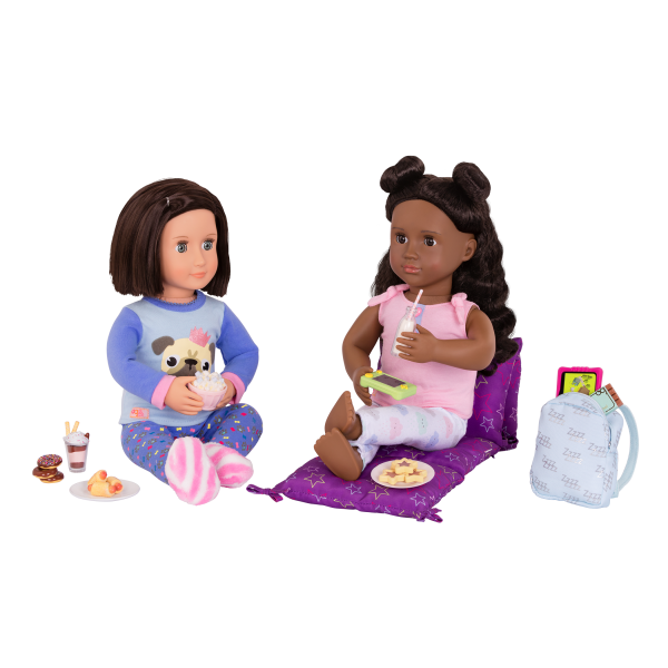 Slumber Delight Sleepover Set with Everly and Macy