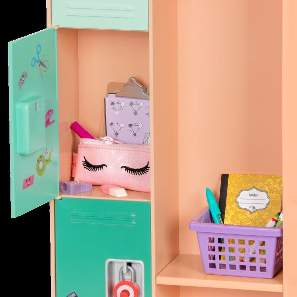 Classroom Cool Locker School Set for 18-inch Dolls