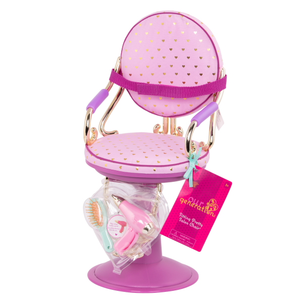 Sitting Pretty Salon Chair for 18-inch Dolls Packaging