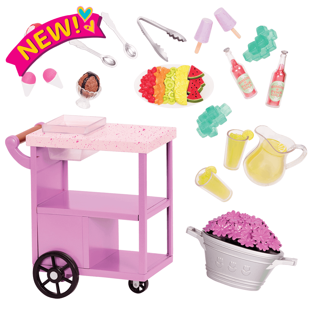 Patio Treats Trolley for 18-inch Dolls