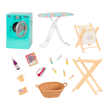 Tumble and Spin Laundry Set for 18-inch Dolls