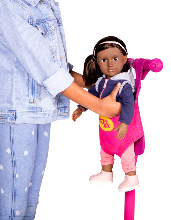 By My Side Scooter for Kids and 18-inch Dolls with Malika