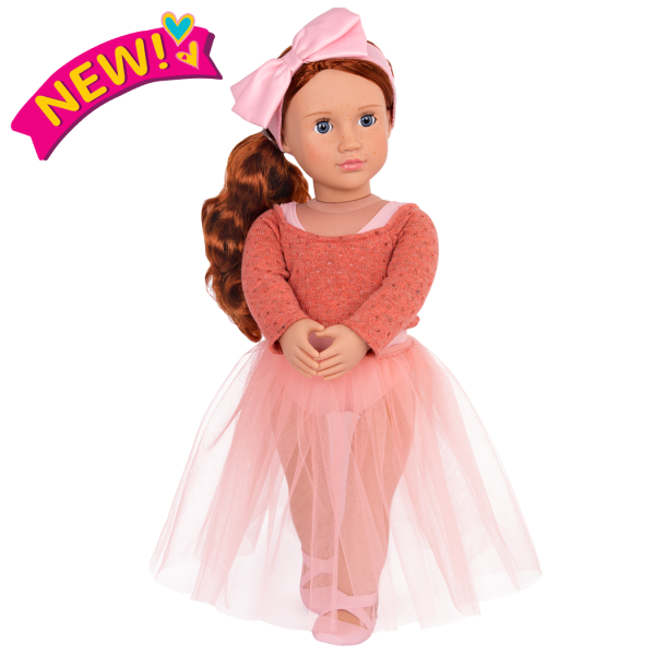 18 Inch Doll Clear Pink Gel Ballet Flats