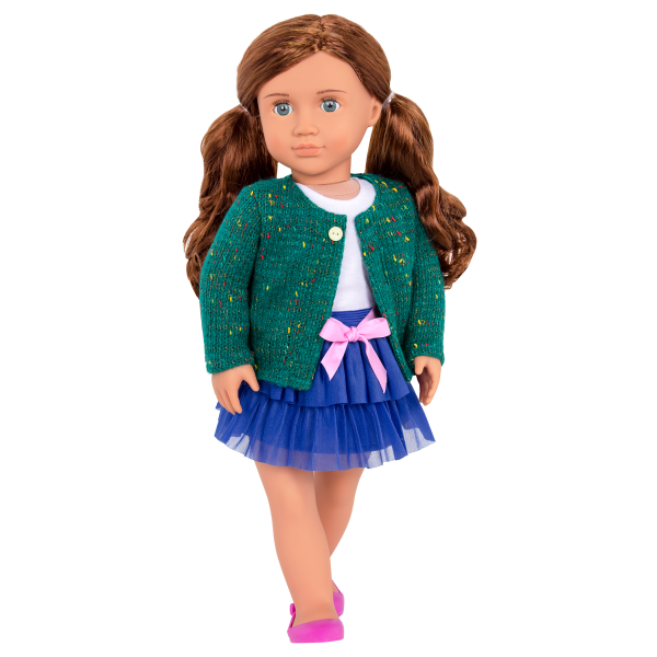 Bright and Brisk Fashion Outfit with Skirt and Lexie Doll