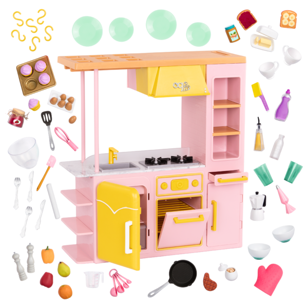Sweet Kitchen Set for 18-inch Dolls
