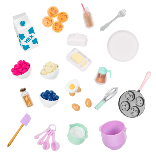 Wake Up to Flavor Breakfast Set for 18-inch Dolls