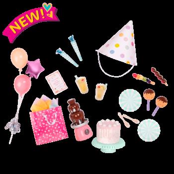 Sweet Celebration Birthday Party Set for 18-inch Dolls