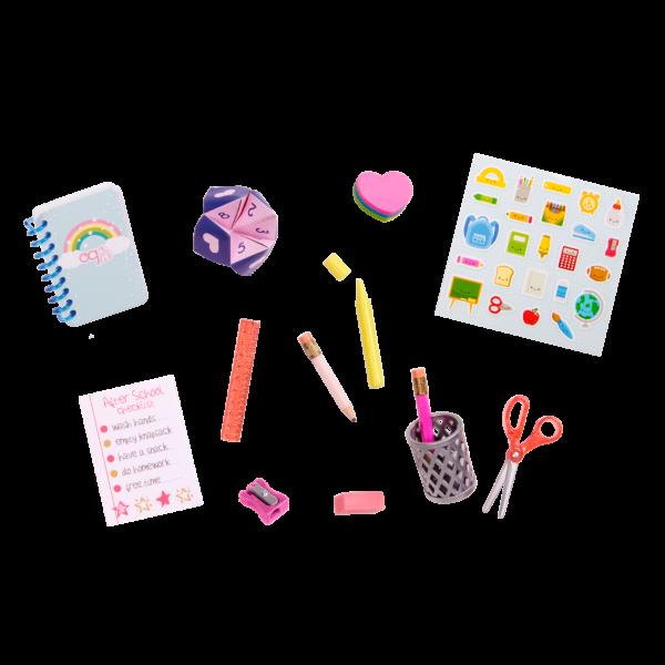 Brilliant Bureau Desk Set with School Supplies