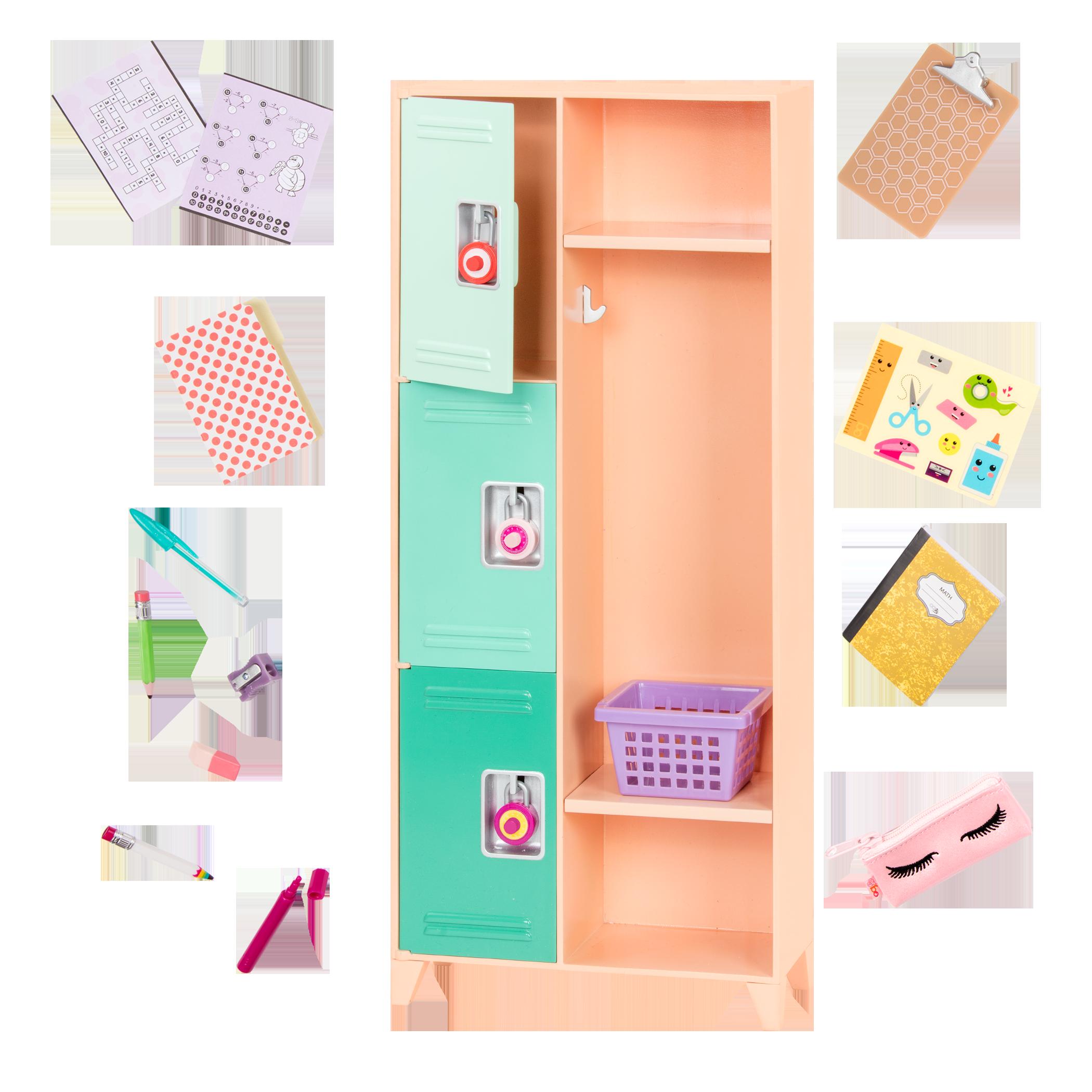 Classroom Cool Locker Set for 18-inch Dolls