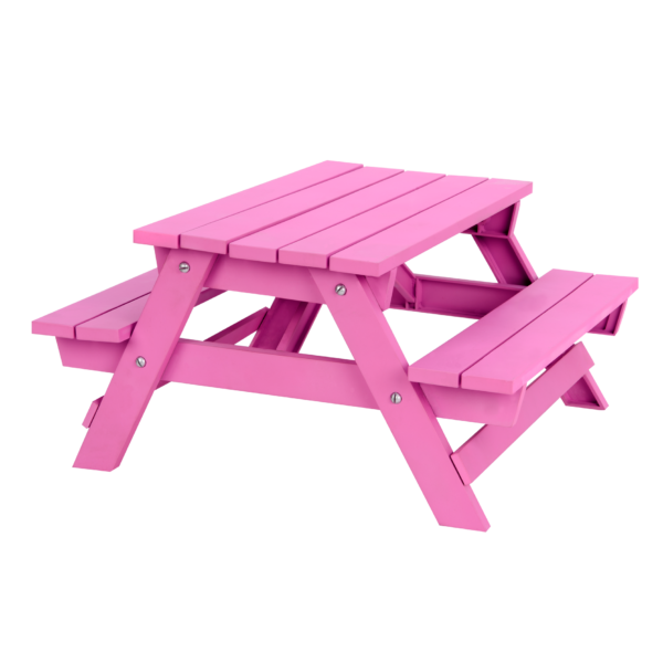 Pink Picnic Table Set for 18-inch Dolls Accessories
