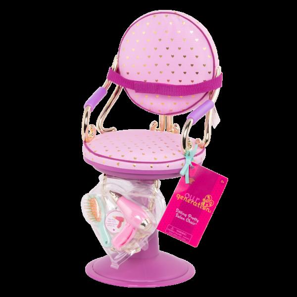 Sitting Pretty Salon Chair for 18-inch Dolls Packaging