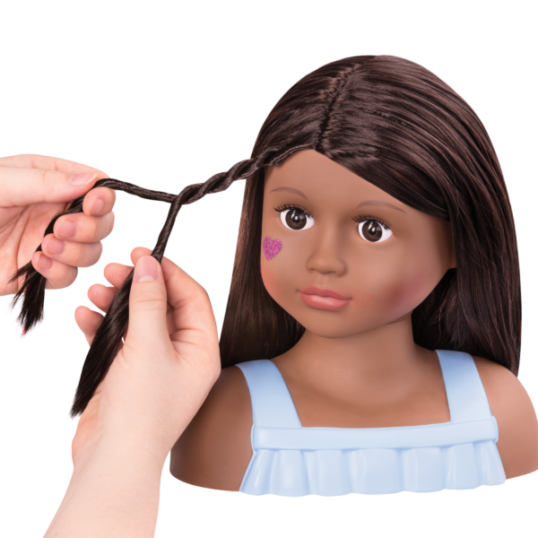 Nessa Doll Hair Styling Head with Braid Tutorial